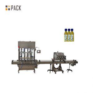 Aŭtomata 1-5L piŝto botelo kruĉo lube motoro oleo likva pleniga maŝino